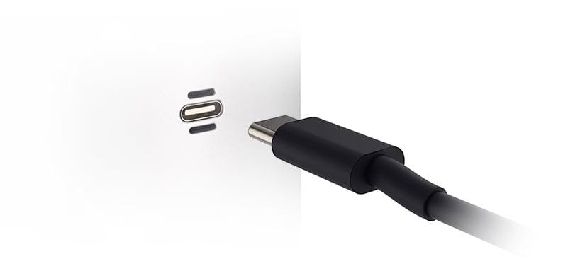 USB-C charging port