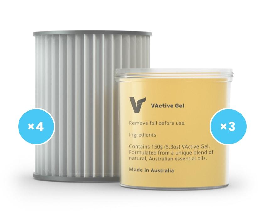 consumables combo labels air detoxifier